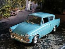 FORD ANGLIA CAR MODEL 1/43RD SIZE 2 DOOR CLASSIC 60'S LT BLUE TYPE PKD Y0675J^*^