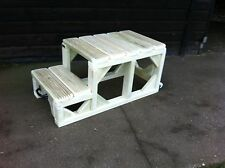 "Mounting Blocks Steps 16"" High EXTRA LARGE TOP STEP Movable Heavy Duty Horse"