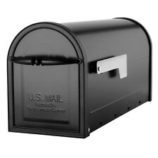 "NEW Quality 6.6"" x 9"" x 21"" Black Metal Post-Office Mount Mailbox Small Mail Box"