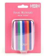 Isaac Mizrahi - NWT - RFID Protected Multi Candy Striped Card Case - Mini Wallet