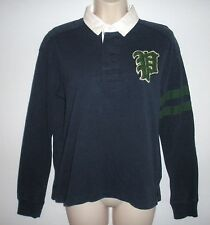 NWT MSRP $145 - POLO RALPH LAUREN Women's Long Sleeve Rugby, French Navy, Sz XL