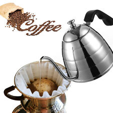 Pour Over Coffee Gooseneck Kettle Hand Drip Pot Stainless Steel Home Cafe 900ml