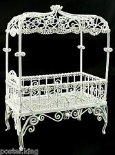 White Victorian Wire Bedroom Bed Canopy 1/12 Doll's House Dollhouse Furniture