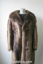 Men's Sz  44 Long Haired Beaver Fur Coat MINT