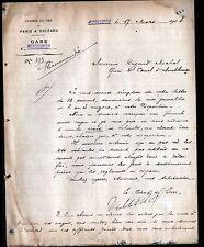 MONTLUCON (03) CHEMIN DE FER de PARIS à ORLEANS Chef de Gare en 1908