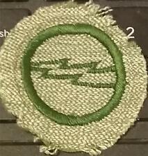1933-1936 Girl Scout Badge ELECTRICIAN - GREY GREEN ROUND