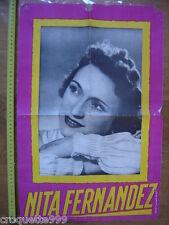 Affiche NITA FERNANDEZ partenaire de Luis Mariano dans Andalousie OPERETTE 2