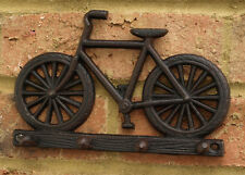 Key Hook Wall Rack Bicycle Cast Iron Metal Hallway Tidy Kitchen Shabby Chic New
