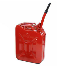 New Red 5 Gallon Jerry Can 20L Army Authentic Military Gas Fuel Steel Tank