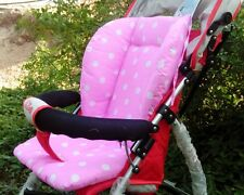Stroller Seat Pushchair Mat Cushion Pink Cotton Infant Baby