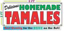 HOMEMADE TAMALES BANNER Sign NEW Larger Size Best Quality for the $$$