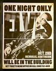 One Night Only Elvis TIN SIGN Concert Poster Music Vtg Metal Wall Decor Bar
