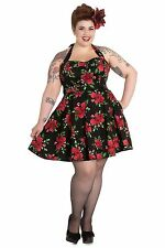 Hell Bunny Plus Size Red Rose Annabelle 50's Rockabilly Retro Dress 3XL 16