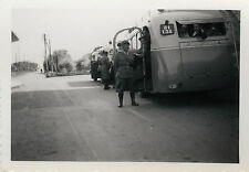PHOTO ANCIENNE - VINTAGE SNAPSHOT - BUS AUTOCAR EXCURSION POLICE VOYAGE DRÔLE