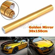 30x150cm GOLD CHROME Car MIRROR Vinyl Wrap Sticker Decal Film Sheet Air Bubble