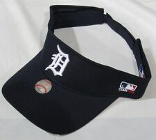 NWOT MLB COTTON TWILL REPLICA ADJUSTABLE STRAP VISOR HAT - DETROIT TIGERS NAVY