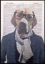 Golden Labrador Print Vintage Dictionary Page Wall Art Picture Retriever Dog