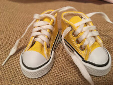 "Fits 16"" Disney Animator Toddler Princess Doll Shoes Sneakers for Clothes Yellow"