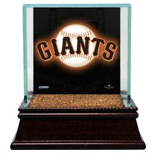 SF Giants Glass Baseball Display Case With Game Used Field Dirt Steiner