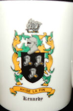 2 COFFEE MUGS WITH THE 'KENNEDY' COAT-OF-ARMS ON THE FRONT~LOOK UNUSED~A1 COND.