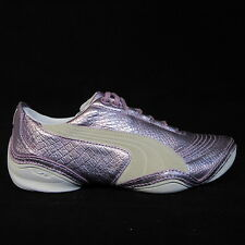 WOMENS LADIES LACE UP PUMA SCATTISTA PINK LEATHER FASHION TRAINERS SHOES UK 3.5