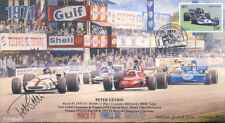 1971 BRM P160 MARCH TYRRELL 002 & SURTEES MONZA F1 cover signed PETER GETHIN