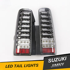 JDM Suzuki JIMNY JB43 LED Turn Signal Brake Lamps Tail Lights Black Clear Pair