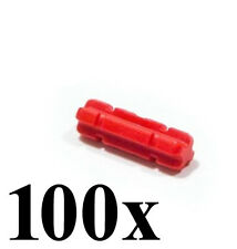 LEGO Technic 100 pcs NEW RED NOTCHED AXLE SIZE 2 Length Short Small Part Piece