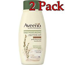 Aveeno Daily Moisturizing Yogurt Body Wash, 18oz, 2 Pack 381371169337A610