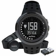 Suunto M5 All Black Mens HRM Heart Rate Monitor Sports Watch + Movestick Mini