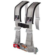 "POLARIS RZR XP 1000  DFR GREY 3""X3"" SEWN IN 4 POINT SAFETY SEAT BELT HARNESS"