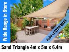 New Extra Heavy Duty Right Angle Triangle Shade Sail 4m x 5m x 6.4m Sand