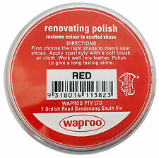 Shoe Polish perfect for restoring scuffed or faded leather over 20 colors