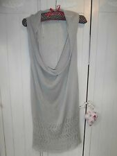 PRETTY & STYLISH NEW SUZY D LONG TOP/TUNIC, SIZE M/L, 20% LINEN, MADE IN ITALY