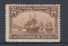 Canada Sc 103 MLH. 1908 20c Arrival of Cartier