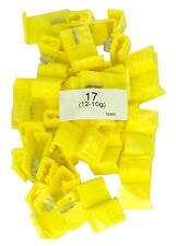 (50 PACK) YELLOW QUICK SPLICE WIRE CONNECTORS 12-10 GAUGE 100% COPPER SHIPS FREE
