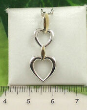 Sassi P1106 Ladies 9ct 375 Yellow & White Gold Heart Pendant Only
