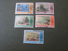 TRINIDAD & TOBAGO, SCOTT # 262-266(4), COMPLETE SET 1976 PAINTINGS ISSUE USED