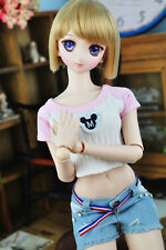 New 1/3  Doll Clothes Lovely  Leisure  Pink Vest Bare Midriffs  BJD Clothes
