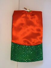 20 IN Red & Green Foil Dots Pattern Satin Mini Tree Skirt CHRISTMAS DECORATION
