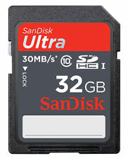 32GB Genuine Sandisk Ultra SDHC SD Memory Card Class 10 - UHS-I Fast 30MB/s 32GB