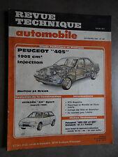 REVUE TECHNIQUE AUTOMOBILE RTA PEUGEOT 405 CITROEN AX SPORT 1988
