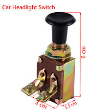 1Pc JK106 Pull Push Headlight Switch One Position DC 12V 5A For Car Auto Boat AP