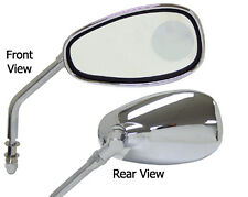 CHROME MIRRORS W/INSET MAGNIFIER INDIAN CHIEF CLASSIC DELUXE VINTAGE 1999-2013