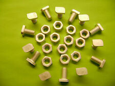 50 ALUMINIUM GREENHOUSE CROPPED HEAD 12MM BOLTS AND NUTS