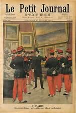 EDUCATION VISITE DES ARTS AU PALAIS DU LUXEMBOURG PARIS POUR MILITAIRES 1902