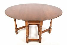 Oak Dining Table OLD CHARM Folding Gateleg Table Country Kitchen Drop Leaf Table