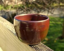 Copper Red Brown Handmade Pottery Wheel Art Coffee Mug Signed By Artist Erin