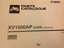 YAMAHA XV 1600 AP PARTS LIST MANUAL CATALOGUE paper bound copy 5JA9