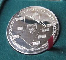 Century Of World Motoring May 1985 Silverstone Commemorative Silver Coin/Medal